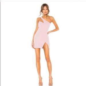 Revolve NBD blush mini dress